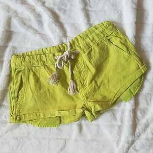 FREE PEOPLE Lime Shorts Sz Small NEW